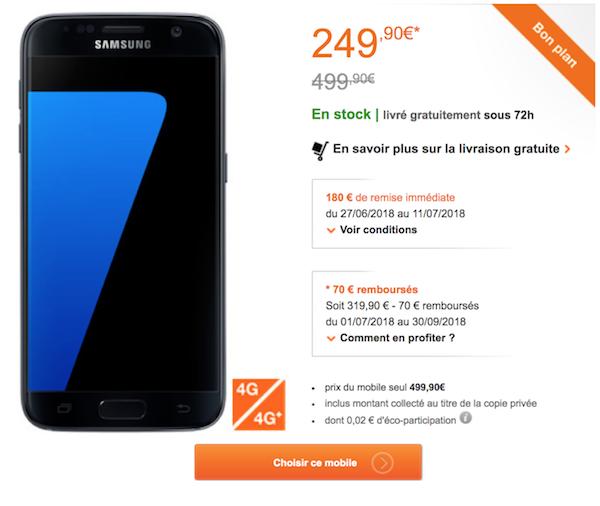 Orange propose le Samsung Galaxy S7 nu et débloqué à 249,99€ 967cf34c7838