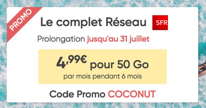 Le forfait mobile de Prixtel, disponible pour 4,99€/mois.