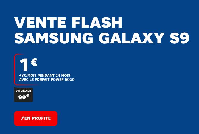 La promotion de SFR sur le Samsung Galaxy S9.