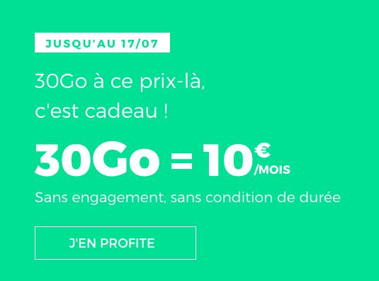 30 Go en 4G avec cet abonnement téléphonique pour 10€ mensuels.