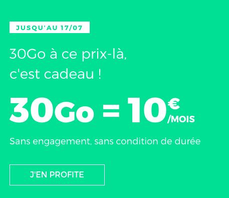 30 Go en 4G pour 10€ avec ce forfait mobile de RED by SFR.