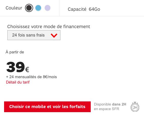 Vente flash chez SFR sur le Samsung Galaxy S9.
