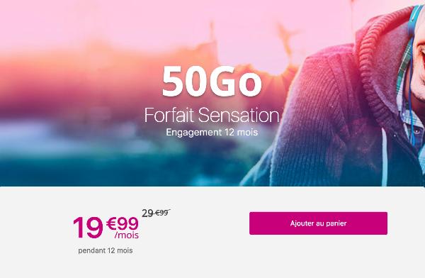 forfait sensation 50 go promotion