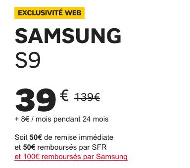 Le S9 Galaxy de Samsung à bas prix grâce à la vente flash de SFR.