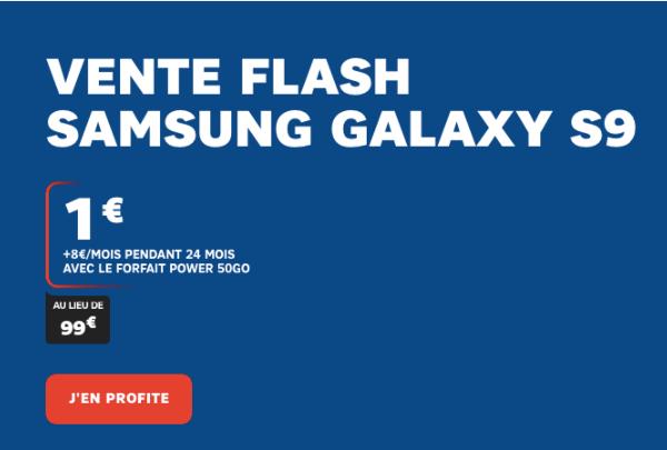 Vente flash SFR samsung Galaxy S9 promotion