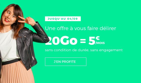 L'offre à 5€ par mois à vie de RED by SFR.