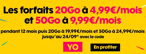 Les promos mobiles de Sosh avec le code YO.