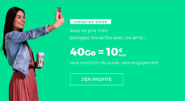 RED by SFR promotion forfait mobile 40 Go pas cher.