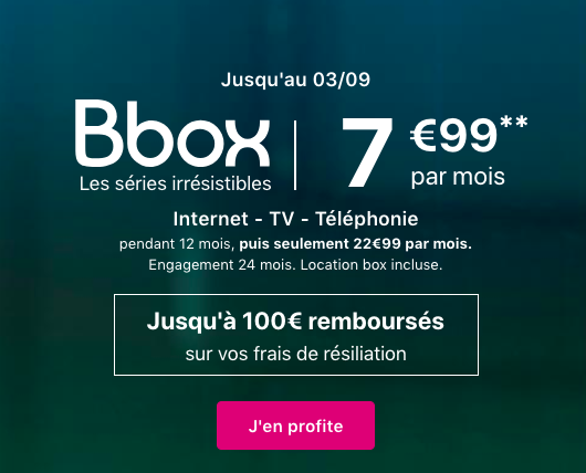 La Bbox à 7,99€.