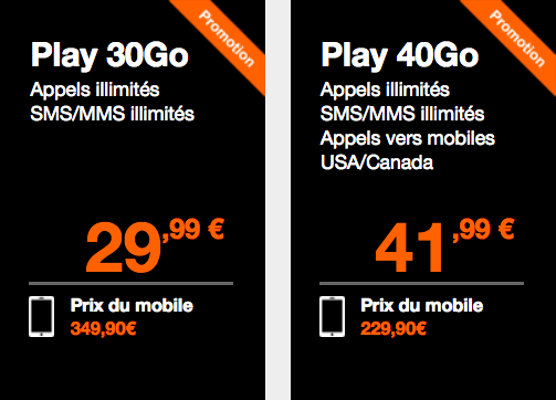 Les forfaits Orange pour iPhone 7