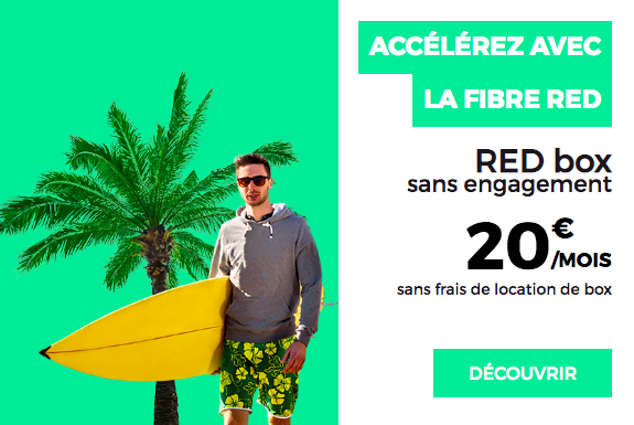 Surfez avec la fibre de RED by SFR.