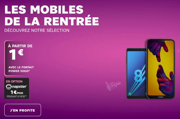 Choisir son smartphone de la rentrée avec SFR.