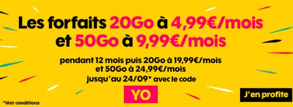 Le code promo YO avec Sosh.