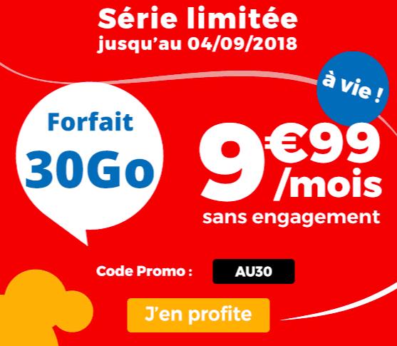Le forfait Auchan Télécom en promo