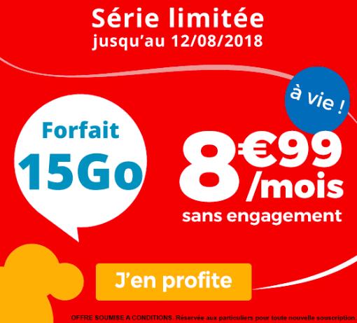 le forfait Auchan Telecom 15 Go