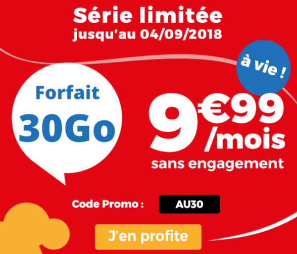 Auchan Telecom code promo forfait mobile 4G.