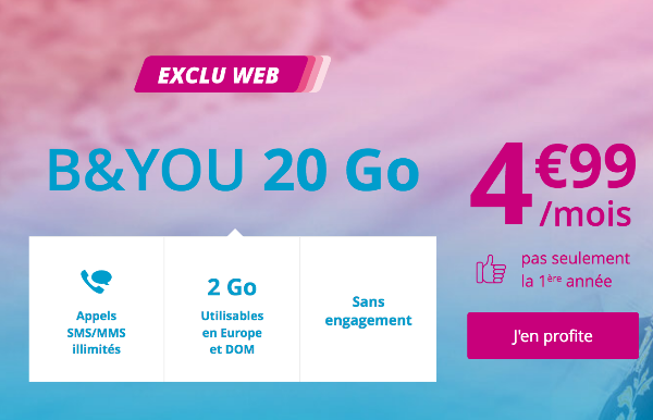 B&YOU 20 Go promotion.