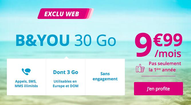 B&YOU présente un forfait 4G pas cher