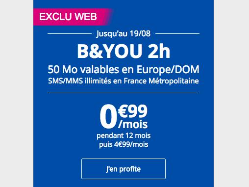 Le forfait en promo de Bouygues Telecom.