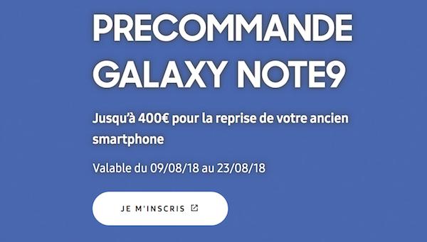 Samsung Galaxy Note9 précommande Bouygues Telecom
