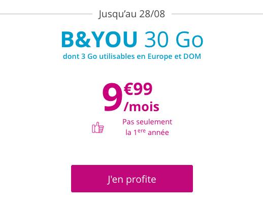 Un forfait pas cher sans engagement à moins de 10€ par mois chez Bouygues Telecom.