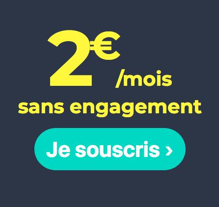 Cdiscount Mobile et le forfait mobile sans engagement à 2€/mois.