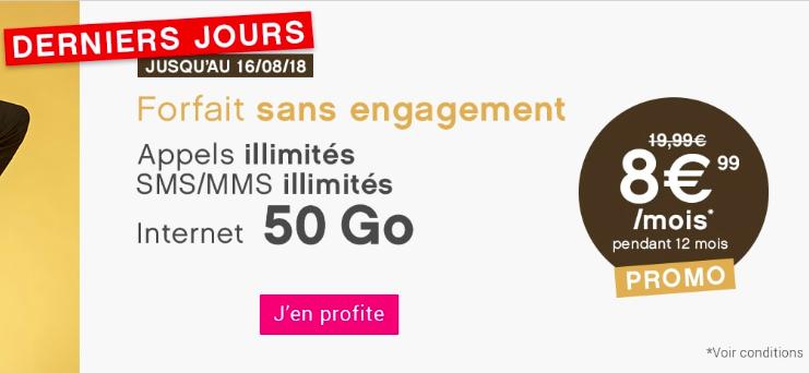 La promotion Coriolis Télécom sur le forfait 50 Go