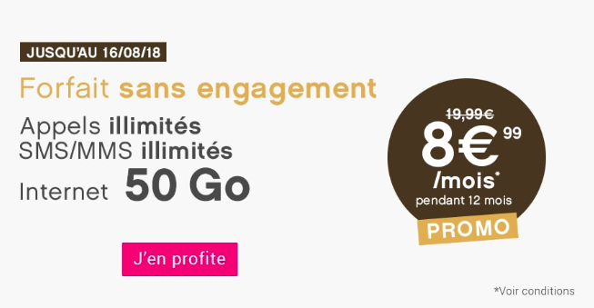 La promotion sur le forfait 40 Go de Coriolis Telecom.