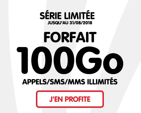 NRJ mobile 100 Go 4G forfait mobile illimité pas cher.