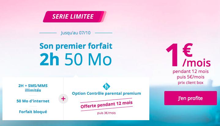 Le forfait bloqué Bouygues telecom à 1€ par mois