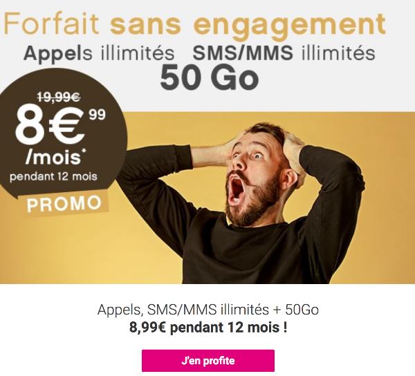 Coriolis Télécom forfait sans engagement 50 Go.