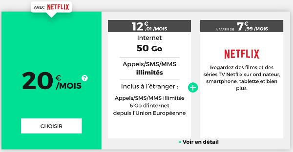 Forfait mobile avec Netflix et 4G pas cher chez RED by SFR.