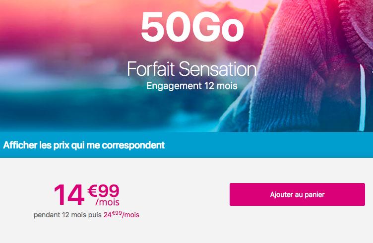 Le forfait pas cher 50 Go de Bouygues Telecom