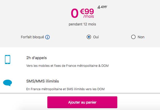 La promotion de Bouygues Telecom pour un forfait mobile pas cher.
