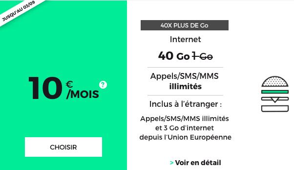 Le forfait pas cher 40 Go de RED by SFR