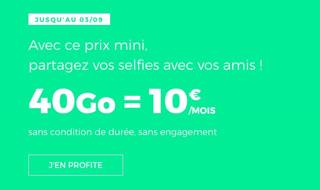 Le forfait pas cher de RED by SFR avec 40 Go de données internet