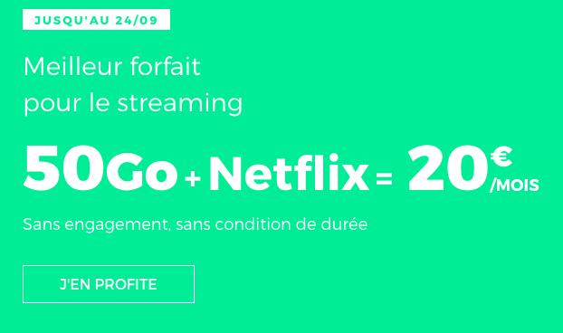 RED by SFR présente un forfait RED 50 Go avec Netflix