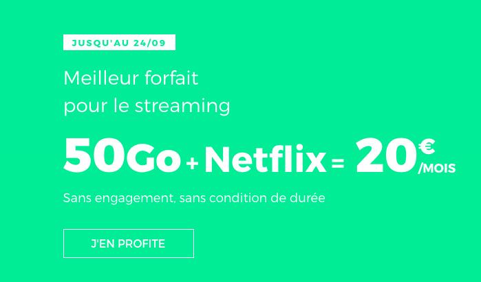 Le forfait RED 50 Go de RED by SFR s'adapte à Netflix