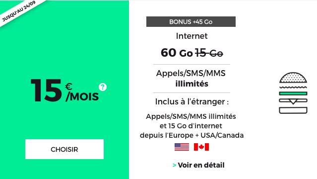 Le forfait pas cher de RED by SFR avec 60 Go d'Internet