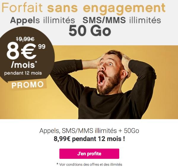 Forfait Mobile Coriolis Télécom 50 Go de 4G.