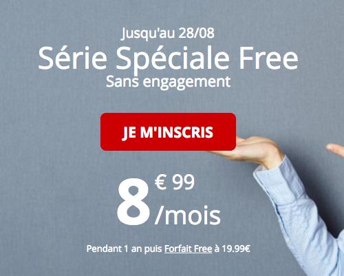 Free Mobile et la promotion pour un forfait pas cher et sans engagement.