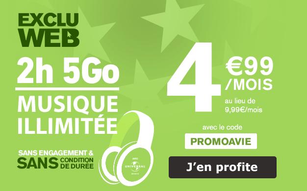La promotion La Poste Mobile sur le forfait 5 Go.