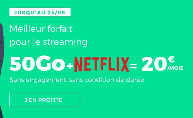le forfait RED by SFR 50 Go en promo avec Netflix