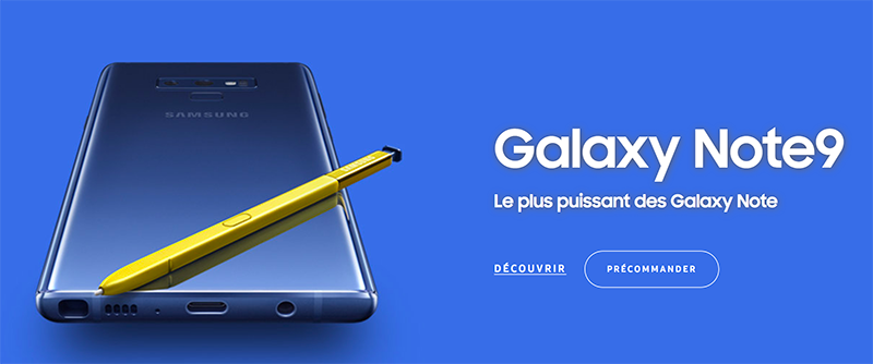 Les meilleurs forfaits avec le Samsung Galaxy Note 9   comparatif ... b92b66b42583