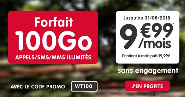 NRJ Mobile forfait illimité 100 Go 4G