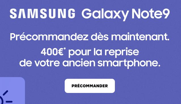 Le Galaxy Note9 de Samsung est chez Orange