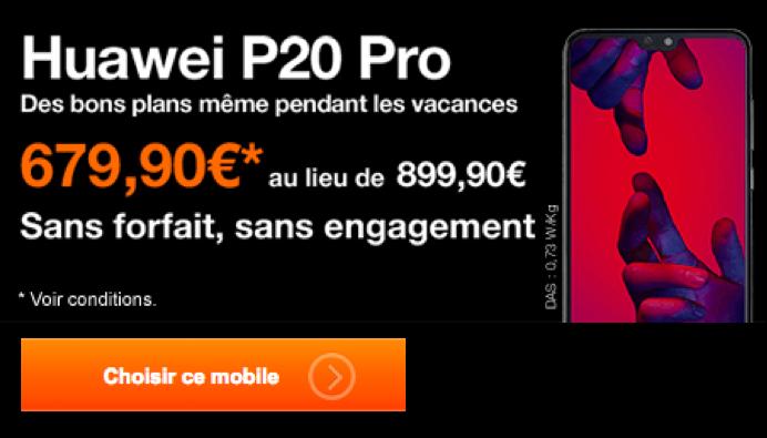 Le Huawei P20 Pro en promo chez Orange