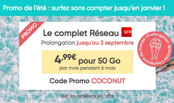 Prixtel et la promotion sur le forfait pas cher avec 50 Go en 4G.