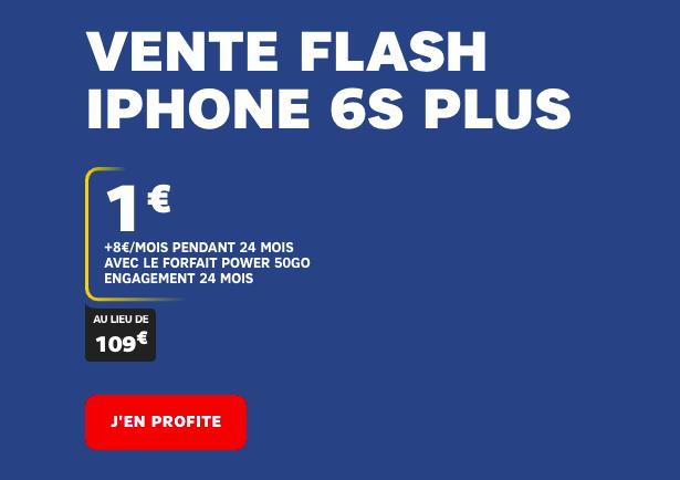 La promo vente flash SFR pour un iPhone 6S moins cher