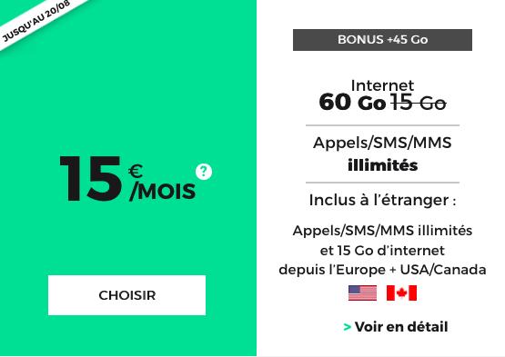 La promotion sur le forfait pas cher avec 60 Go en 4G ou 3G chez RED by SFR.
